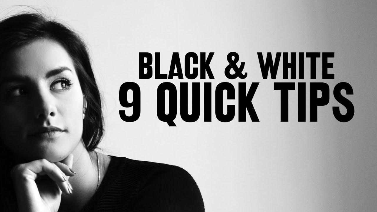 9 astuces pour faire du noir et blanc en photo